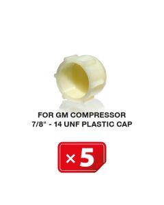 "UNF Plastikkappe für GM Kompressor 7/8""-14 (5 St.)"