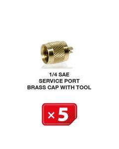 Verschlusskappe Kupfer mit Werkzeug 1/4 SAE (5 St.)