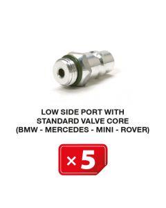 Nippel Niederdruckseite mit Standardventil (BMW-Mercedes-Mini-Rover) (5 St.)