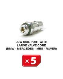 Nippel Niederdruckseite mit langem Ventil  (BMW-Mercedes-Mini-Rover) (5 St.)