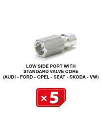 Nippel Niederdruckseite mit langem Standardventil (Audi-Ford-Opel-Seat-Skoda-VW) (5 St.)