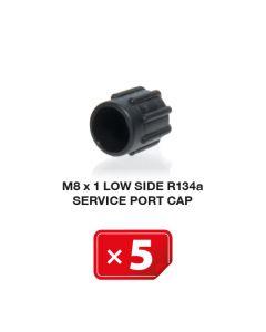 Klimaanlage Verschlusskappe M8 x 1 Niederdruckseite R134a (5 St.)