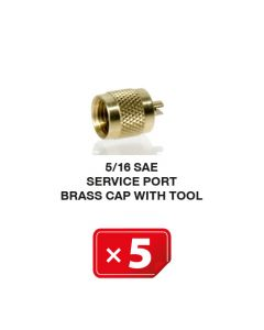 Verschlusskappe Kupfer mit Werkzeug 5/16 SAE (5 St.)