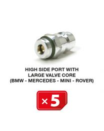 Nippel Hochdruckseite mit langem Ventil  (BMW-Mercedes-Mini-Rover) (5 St.)